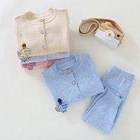 High Quality Baby Girls Cardigan Girl Elephant Sweaters Sets baby boys knitted suits Children Baby Girl Winter Clothes Y1113