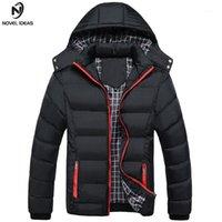 Novela ideas hombres invierno chaqueta abrigos masculinos cálido moda gruesa termal hombres parkas ropa casual tamaño M-4XL1