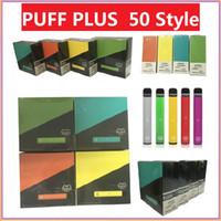 Puff mais 50 estilos Nova Embalagem Cartucho descartável 550mAh Bateria 3.2ml Pré-enchido Vape Pods Stick E Cigarros Portáteis Vs Air Bar Lux