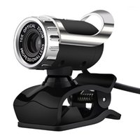 كاميرا ويب كاميرا الكمبيوتر USB 2.0 شبكة الكمبيوتر HD الكاميرا، 360 درجة دوران، الميكروفون الرقمي المدمج، عدسة بصرية 480P، دعم PC1