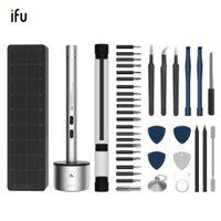 IFU Cordless Mini Elektrischer Schraubendreher Set USB mit 22 Bohrbits für Präzisionsphones-Laptop-Uhrengeräte, die T200602 reparieren