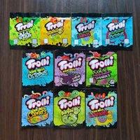 2021 Yeni Sıcak İlaçlı Mylar Çanta Trolli Trrlli Errlli Yaylı Gummies Ambalaj Koku Geçirir Kapanabilir Fermuar Kılıfı 600 mg Özel Logo