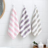 Serviette molle serviette rayure visage serviette microfibre tissu bébé suspendu baignade pour la salle de bain cuisine rapide sec