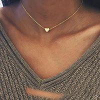 Joyería de lujo diseñador clásico amor corazón collar moda 18k oro corazón colgante collar para mujeres niñas