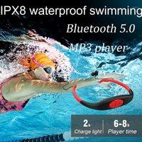 Nuovo auricolare Bluetooth IPX8 con Auricolare stereo FM 2020 Impermeabile Swimming Mini Sport Wireless MP3 Player1