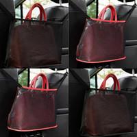 2 цвета складные пакеты сетки ткани автомобиля стул сетчатые карманные ретикулярные пакеты красные черные полигоны многофункциональные 7 5kn l2