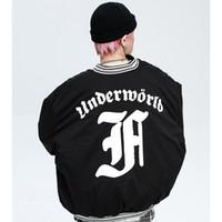 Hip Hop Jacket Mens Streetwear готические письмо Отпечатано пальто куртки хлопка зимы теплая куртка пальто