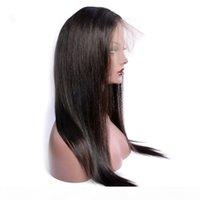 Vergine Brazilian precipitava la parrucca frontale del pizzo svizzero a 360 gradi parrucca del pizzo svizzero parrucche dei capelli umani con naughty