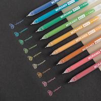 9 Adet / takım Sevimli Renk Jel Kalem Renkli Glitter Pen Vurgulayıcı Kalem Yazma Çizim Doodling Sanat İşaretleyiciler Okul Kırtasiye