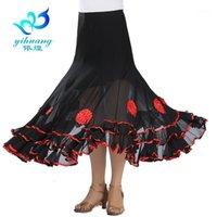 Traje de baile de baile de las señoras Falda larga Flamenco Waltz Moderno Estándar Tango Vestido de competencia Salsa Trajes Latinos Performance1