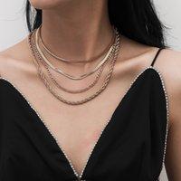 Collana d'oro delle donne fuori ghiacciato Pendente per la collana delle donne di compleanno regalo di nuovo anno Women Collier De Designer