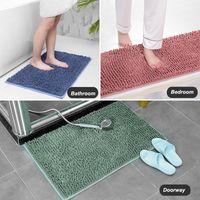 Banho Mats Plush tapete cor sólida simples 21 cores Quarto Doorway Mat água-absorvente antiderrapante Blanket Engrossado Rug VT1939