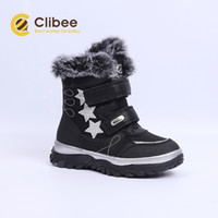 CLIBEE Girls Winter Autumn PU Leather Snow Mid- Calf Ankle Ma...