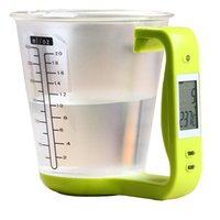 LCD 디스플레이 온도 측정 컵 요리 도구 Y200328와 함께 가정용 주방 저울을 측정하는 WFGOGO 디지털 컵 규모 전자 측정