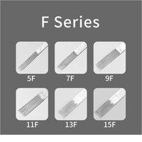 50st Stainless Steel Flat Tattoo Needles 5F 7F 9F 11F 13F 15F Engångs tatueringsnål för spole TA QYLPEL