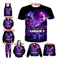 Película de horror Juego de niños Chucky 3D Imprimir Moda Hombres Mujeres Chaqueta / Sudaderas con capucha / con capucha / sudadera / camisa / camisa / chaleco / pantalones cortos / pantalones A6