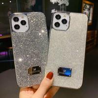Bling Bling Glänzende Telefonhüllen Abdeckung für iPhone 12 Diamant Shinning Powder Black Edage Heißer Verkauf Neue Ankunftsfall