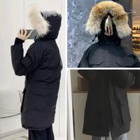 2021 Winterjacke Mann Daunenmantel Oberbekleidung Big Echt Wolf Pelz Kapuzenparka Dicke Doududne Homme Baumwolltaschen Jacken 4 Stil zur Auswahl