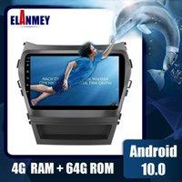 Android 10.0 2DIN Автомобильный радиорегистратор Мультимедийный плеер для Santa Fe IX45 2013-2021 Аксессуары GPS Навигационная головная установка 4G Wi-Fi Автомобильный DVD