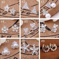 크리 에이 티브 슈퍼 반짝이 스터드 카드 팩 / 귀 BAC 45 스타일 한국어 귀걸이 K 새로운 진주 스터드 귀걸이 패션 쥬얼리 고품질