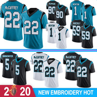 22 Christian McCaffrey Homens Jerseys 59 Luke Kuechly 1 Cam Newton 90 Julius Peppers 5 Simmons Bridgewater Football Jerseys