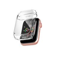 Nueva estuche de vidrio templado completamente claro para iWatch 4 5 6 SE Soft TPU Cobertura completa para accesorios de Apple Watch Casos de protección protectora
