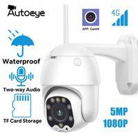 AutoEye 4G SIM-Karte PTZ-Kamera drahtlose IP-Kamera 5MP 1080P HD-Sicherheitsüberwachung-Überwachung CCTV WIFI im Freien wasserdicht Camhi1