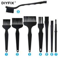 DIYFIX 8 in 1 Anti Statik Toz Fırçası ESD Güvenli Sert Temizleme Fırçası BGA PCB Kurulu Rework Onarım Temiz Araçları Set 201214