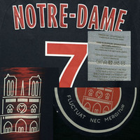 2018 Notre Dame Match Worn Player Issue Mbappe Neymar JR Cusomize Number Soccer Nameset Patch Printing