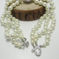 New Arrival 3 Layers Pearl Orbit Necklace Women Rhinestone S...