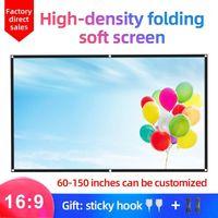 شاشات الإسقاط mixito 16: 9 hight-density المحمولة طوي الشاشة 1080P 3D 4K HD العارض الفيلم 100 120 150 inch1