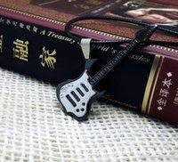 Hübsche Gitarre hängende Halskette Schön Hip Hop Rock Schmuck Geschenk Musik-Leder-Halsketten-Halskette