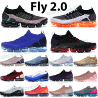 Fly 2.0 Manga Correndo Sapatos Homens Mulheres Sneakers Volt Preto Perfurador Hot Punch Multi Cor Rosa Gold Racer Blue Didused Taupe Mens Sports Trainers