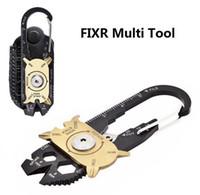 새로운 FIXR 야외 스포츠 휴대용 유틸리티 포켓 (20) 1 다기능 렌치 드라이버 오프너 EDC 생존 키 체인 도구 도매에서