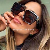 Gafas de sol 2021 Kim Kardashian Mujeres de gran tamaño Gradiente Estilo de verano Classic Gafas de sol Femenino Masculino Gran Marco 1