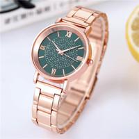 여성 시계 럭셔리 다이아몬드 로즈 골드 숙녀 손목 시계 여성 시계 패션을위한 마그네틱 여성 팔찌 시계