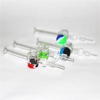 CHOUCHAHS MINI MINI NECTAR COLECTOR DE NECTAR KIT MICRO NC KITS Fumadores de vidrio DAB Collectores de paja con puntas de cuarzo de titanio