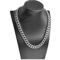 12,8 мм никогда не ржавчины роскошь фигурное ожерелье цепи 4 размер мужчин ювелирные изделия 18k настоящие желтые позолоты хип-хоп цепь ожерелья для женщин мужчин
