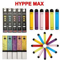 새로운 Hyppe 최대 일회용 Vape 펜 장치 1500Puffs 5ml의 카트 미리 채워진 포드 카트리지 650mAh 배터리 증기 전자 CIG 담배 증발기
