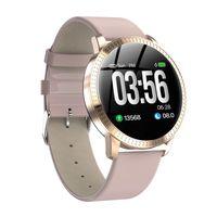 Pantalla CF18 reloj elegante del color OLED Presión SmartWatch Moda rastreador de ejercicios de ritmo cardíaco Sangre monitor para los hombres relojes de las mujeres