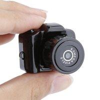 Câmeras digitais y2000 pequena câmera ao ar livre portátil esportes DV casa mini movimento gravador de vídeo de vigilância de segurança camcorder kamera