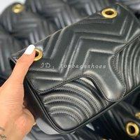 Luckury Black Crossbody Designer Bags 5A 2020 Бренд продал плечевые дамы красные женщины цепи горячие натуральные кожи стеганые кошельки золотая сумка Han Ceck