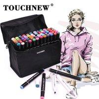 Touchnew علامة الأقلام 60 ألوان تصميم الرسوم المتحركة الرسومية للفنانين رسم علامات 201225