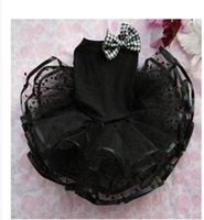 تخصيص أسود سوبر نفخة تنورة جرو الكلب الملابس تيدي الجراء الصغيرة bichon الخريف pomeranian تنورة الصيف