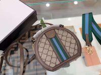 2021 Новый бренд Круглый мешок для торта Диагональная сумка, практичный внешний вид, доступны две плечевые ремни, существенное путешествие на красоте.