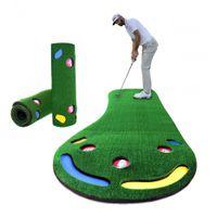 Indoor Golf Mini Poner Verdes Inicio Práctica portátil Poner Trainer Oficina Ejercicio Juego de alfombrilla de ratón Golf Golpear ayudas a la formación