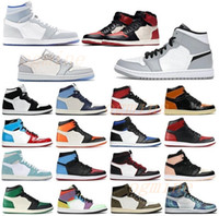 50 + Colore [con scatola] 2021 Uomo Womens Jumpman Fearless Chicago Bred Toe Obsidian Mocha Satin Scarpe retrò 1 1s Mens Sneakers da basket 36-46 35 #