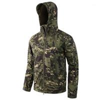Охотничьи куртки Esdy бренд одежда мужская камуфляжная мягкая оболочка куртка армия тактические многокамные мужские ветровки1