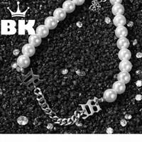 Web Celebrity Ins derselben Dunzi-Choker Schach Mishbhv-Minderheit Perle Kette Verkettung Choker Temperament Bundy Kurzer Halskette