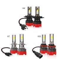 1pair Araba Farlar LED H4 H7 H11 Işıklar Ampüller 10000LM DC9-30V 80W EV18 Su geçirmez Oto Sis Lambası 6000K